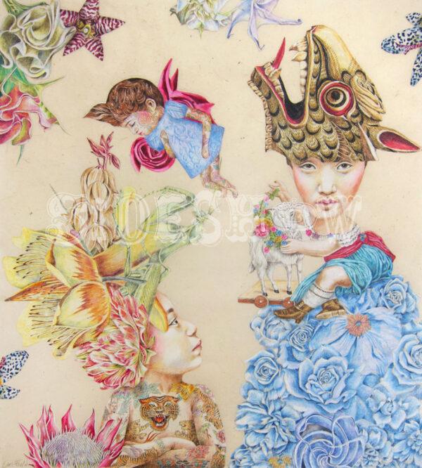 Lori Field – Crouching Dragonlady Hidden Praying Mantis – 300 dpi