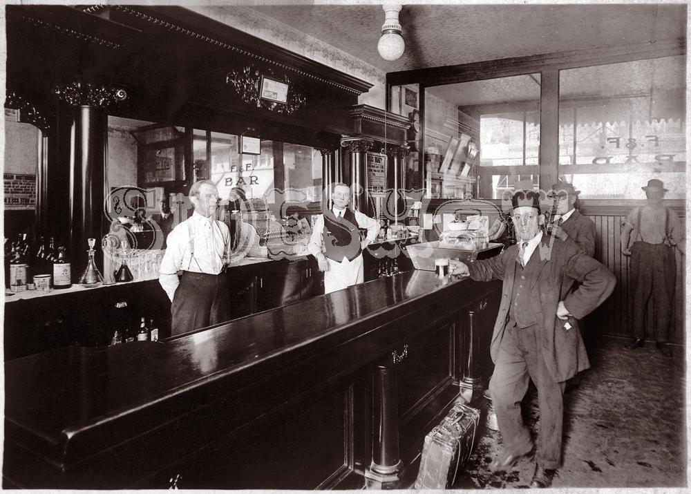 suitcase saloon vintage photo