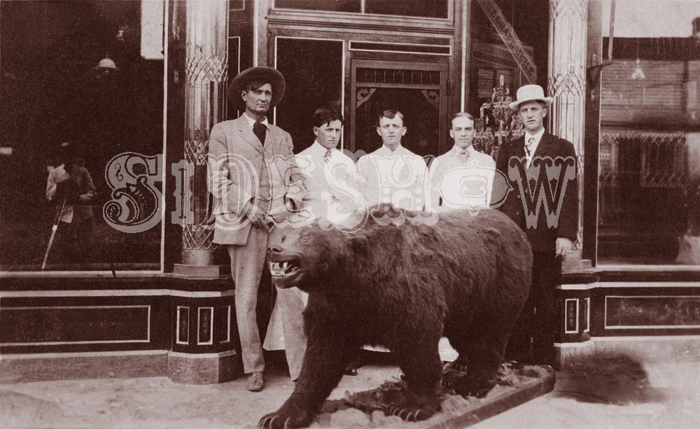 bear saloon vintage photo