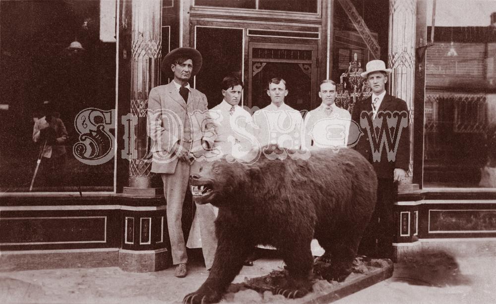 bear saloon vintage photo