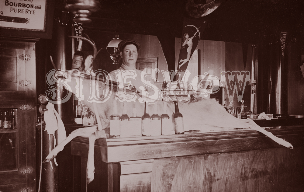 dead deer saloon vintage photo