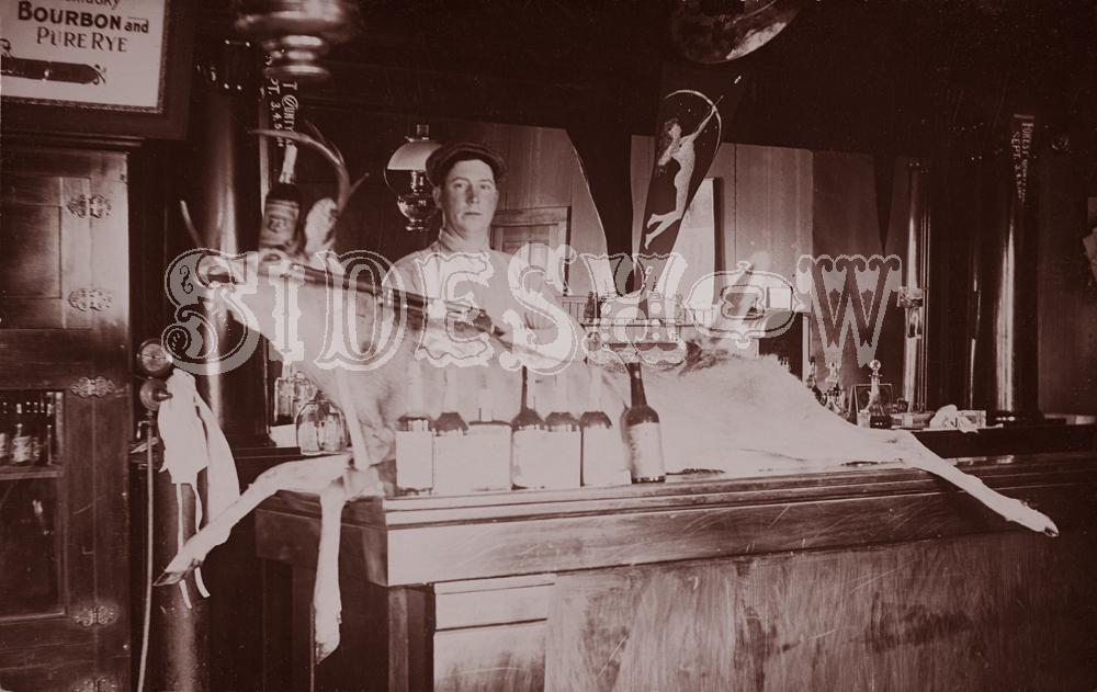 dead deer saloon vintage photo