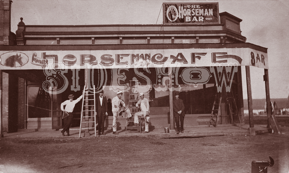 horseman bar and cafe saloon vintage photo