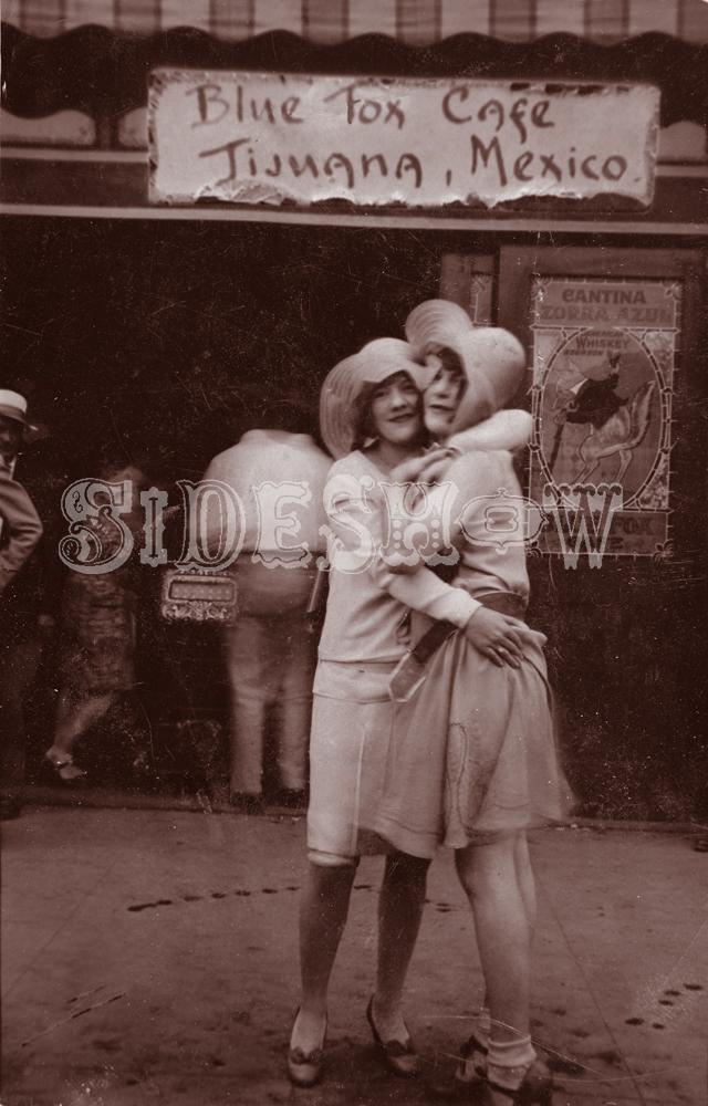 blue fox cafe saloon vintage photo