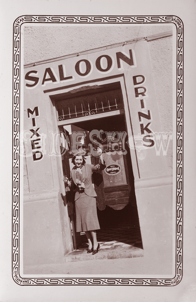 tilted frame saloon vintage photo