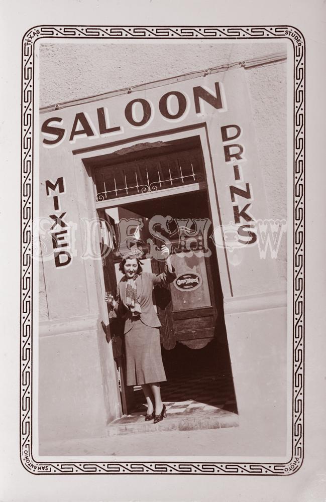 tilted frame saloon vintage photo
