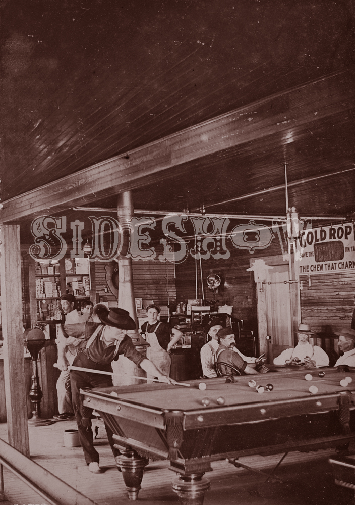poolhall saloon vintage photo