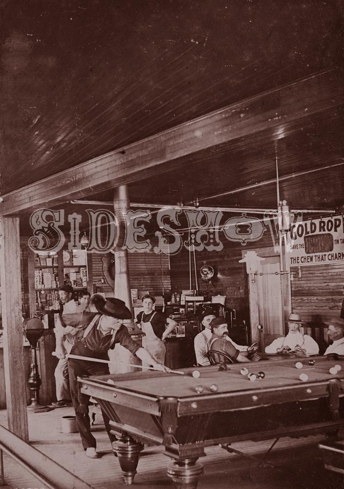 poolhall saloon vintage photo