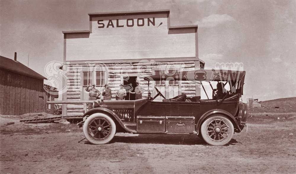 frontier car saloon vintage photo