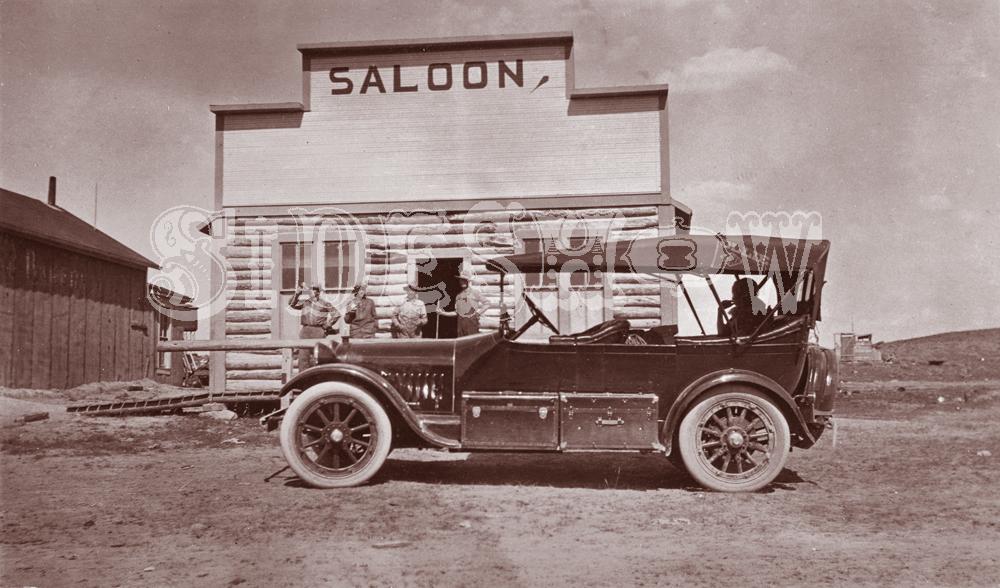 frontier car saloon vintage photo