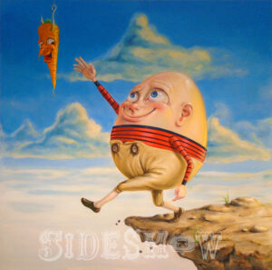 Stephen Gibb_With the promise of chocolate Humpty gets duped by the clockwork carrot_A