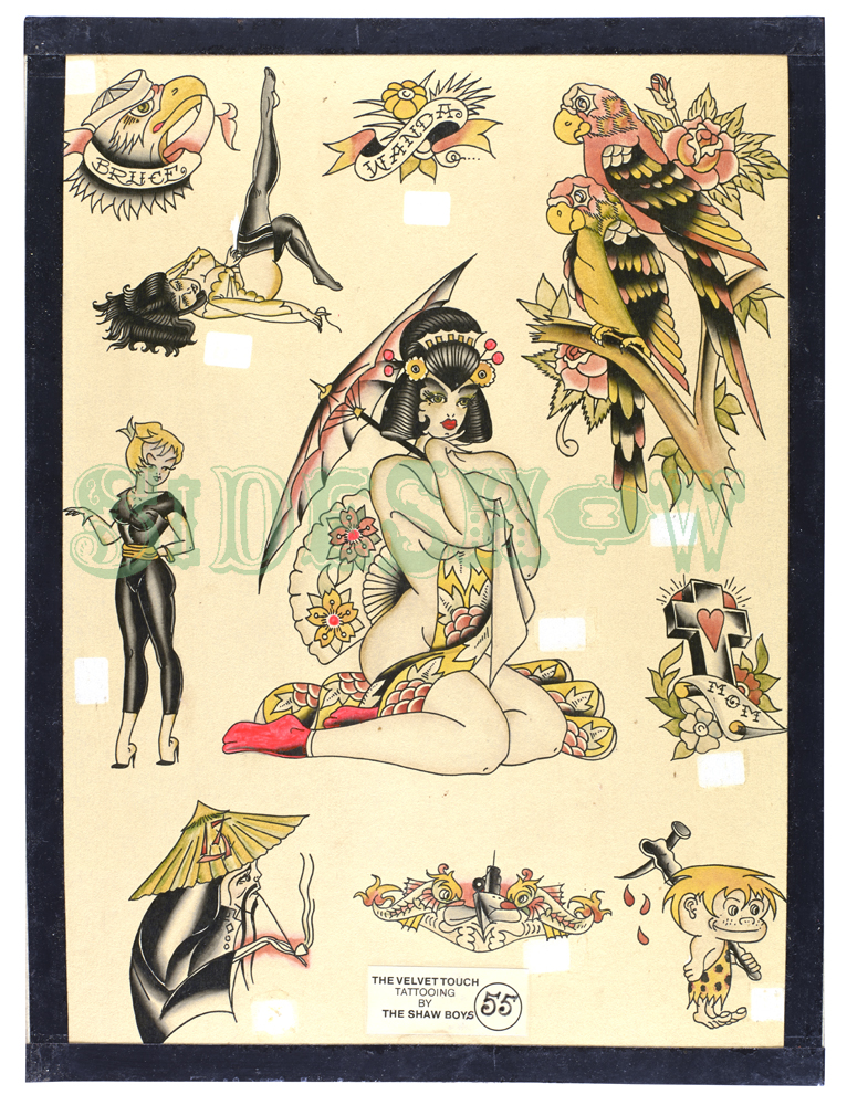 velvet touch tattooing shaw boys vintage pinups sailor travel exotic