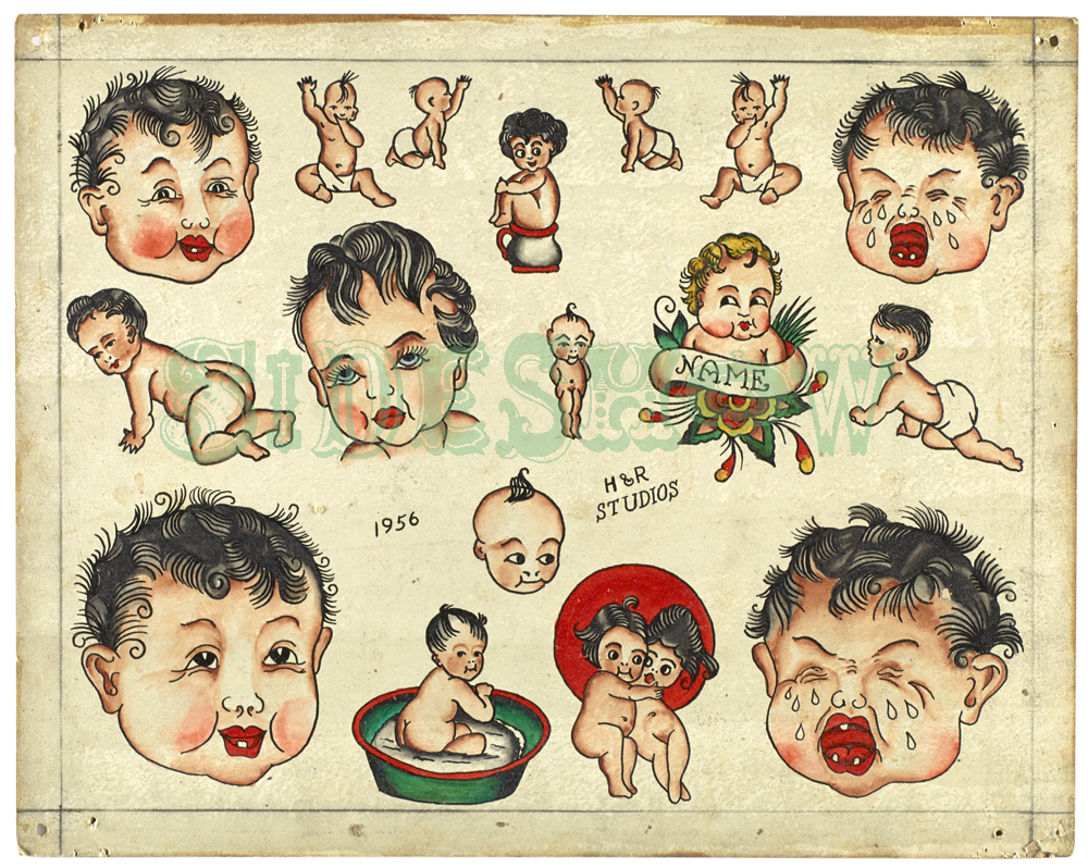crying baby tattoos