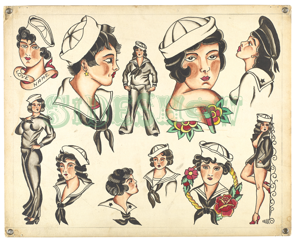 sailor women tattoo samples