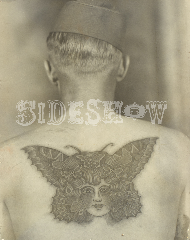 butterfly tatto back