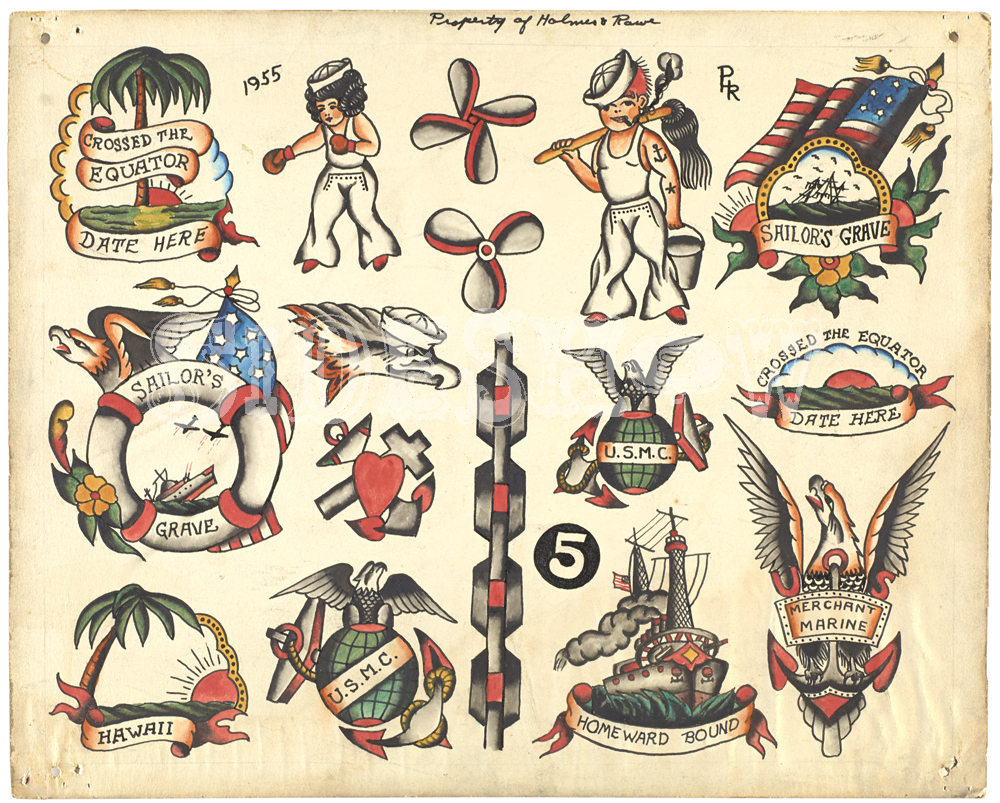 Holmes and Rowe tattoo samples