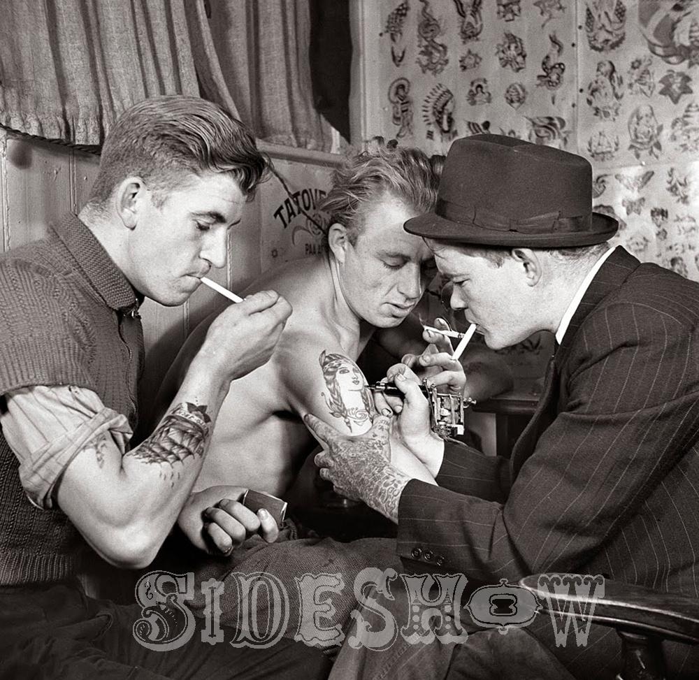 smoking tattoo artist