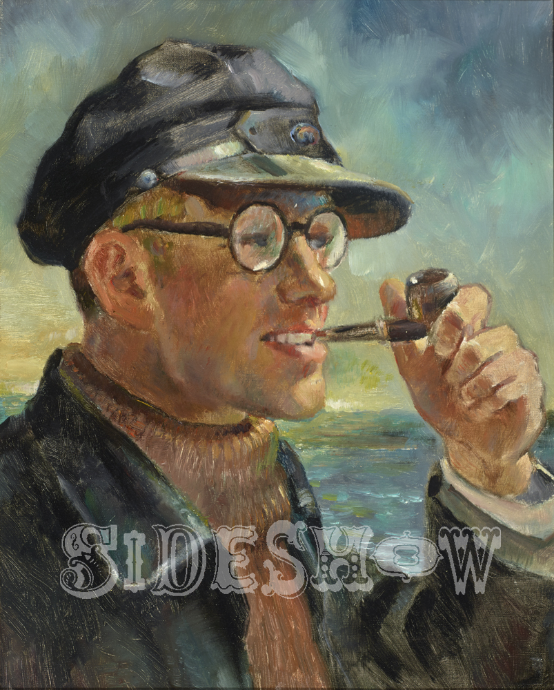 Seafaring man with pipe
