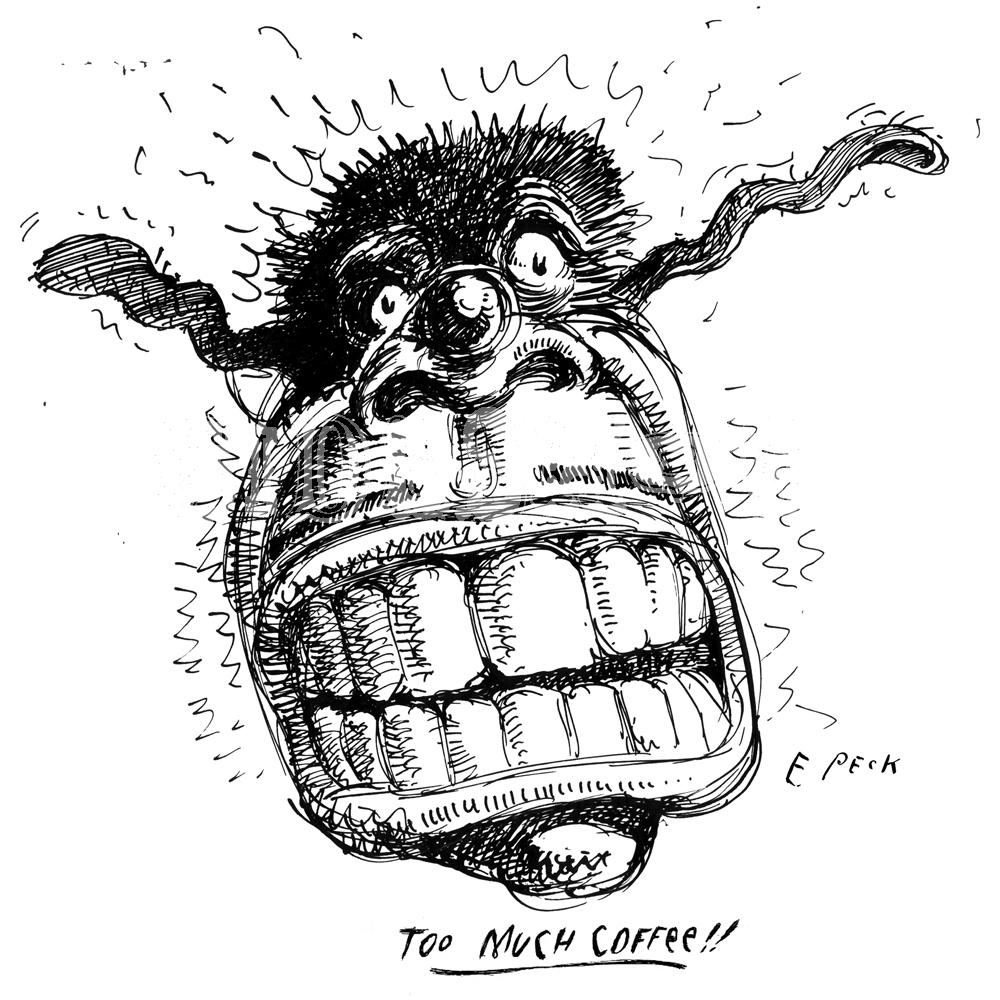 Everett Peck Too Much Coffee