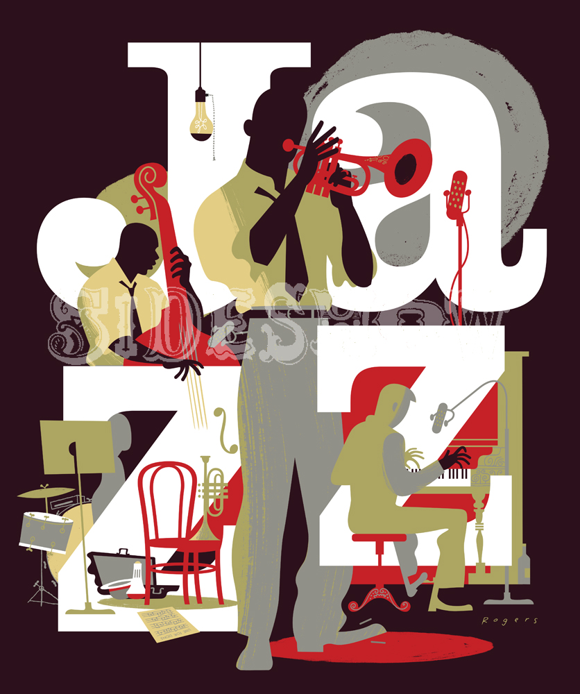 Paul Rogers Jazz Poster