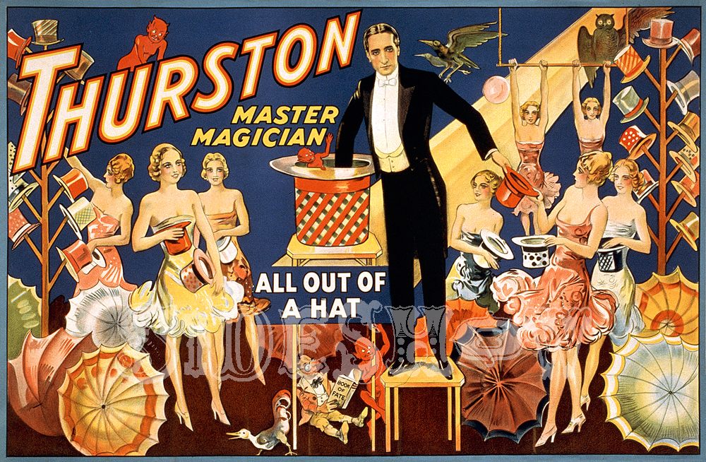 thurston master magician all out of a hat