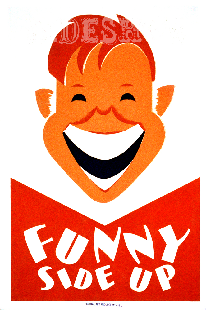 funny side up vintage graphic