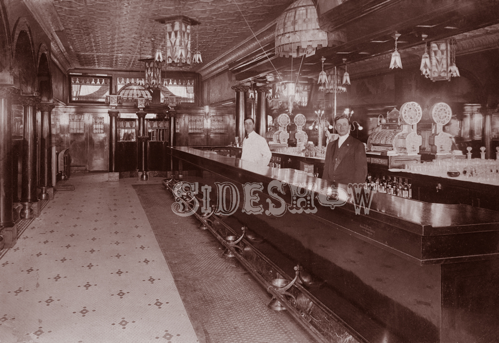 tile floor saloon vintage photo