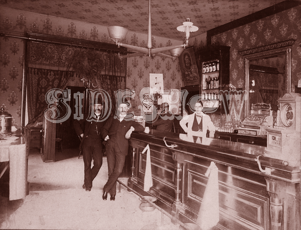 chandelier saloon vintage photo