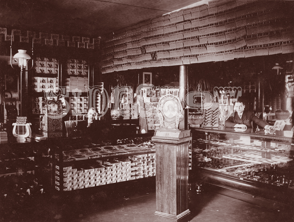 cigar boxes saloon vintage photo