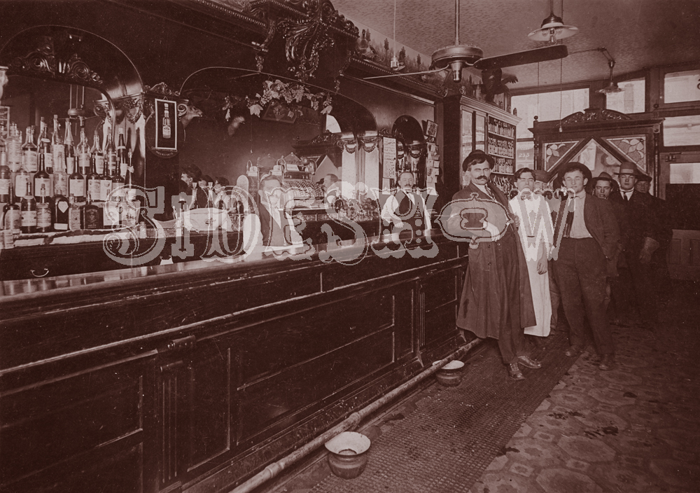 bar bottles saloon vintage photo