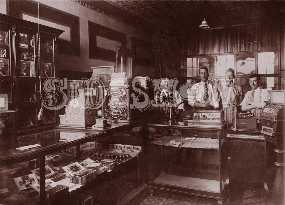 cigar shop saloon vintage photo