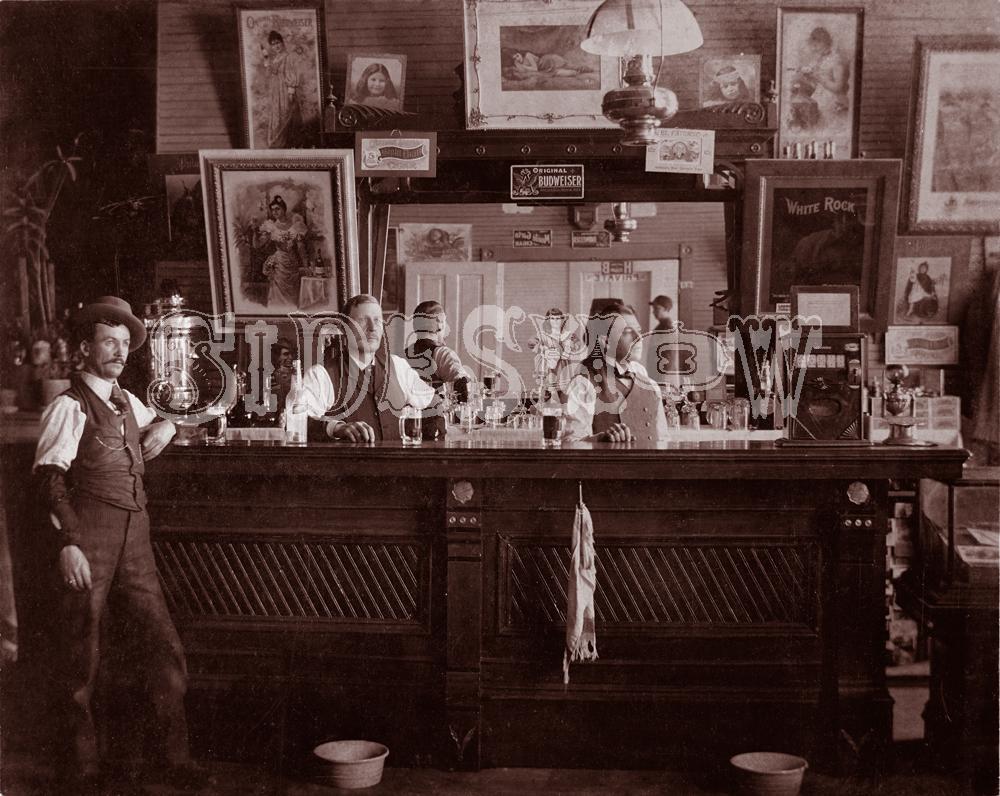 posters saloon vintage photo