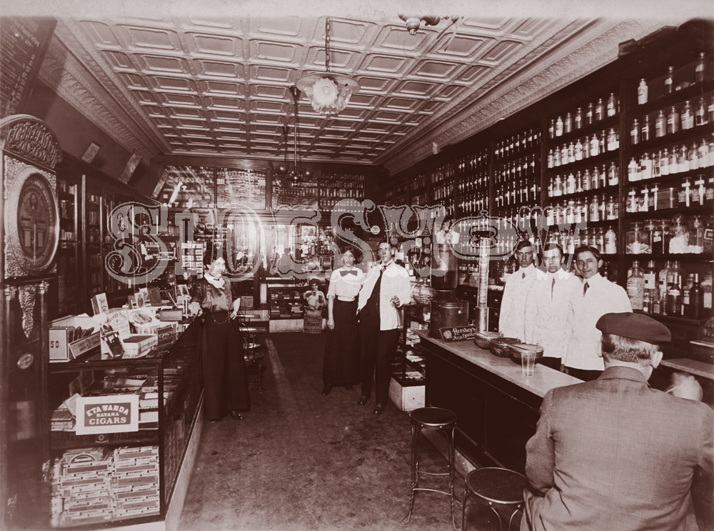 cigars and jars apothecary vintage saloon photo