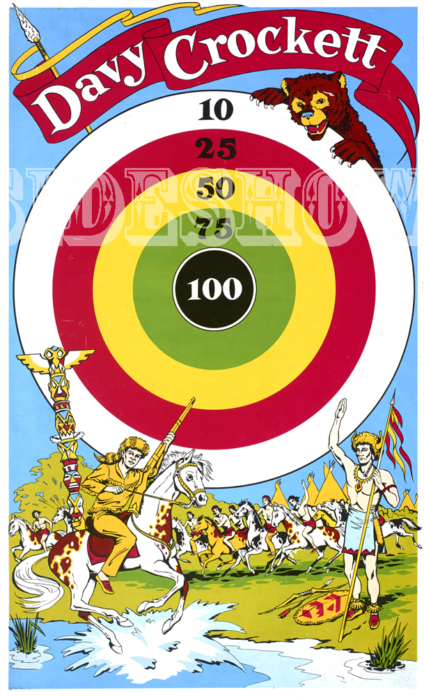 davy crockett vintage target dart board game