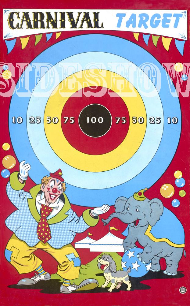 carnival target vintage dart board game