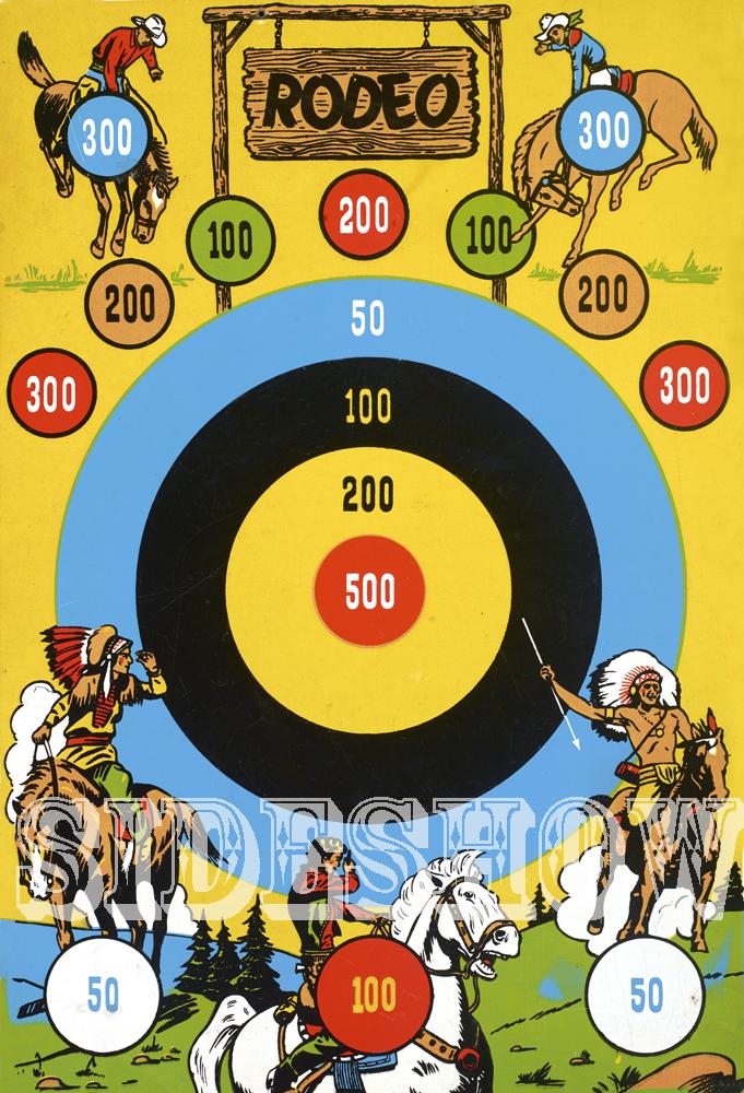 rodeo vintage target dart board game