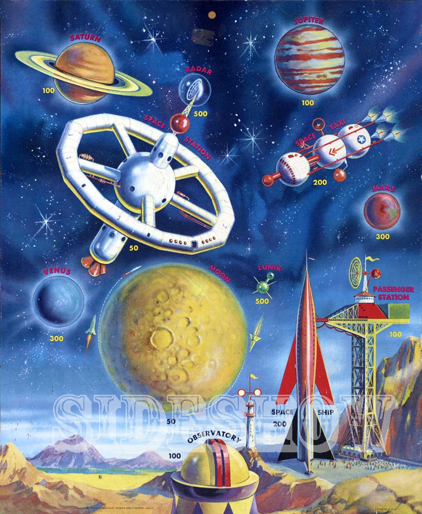 space station vintage target dart board game