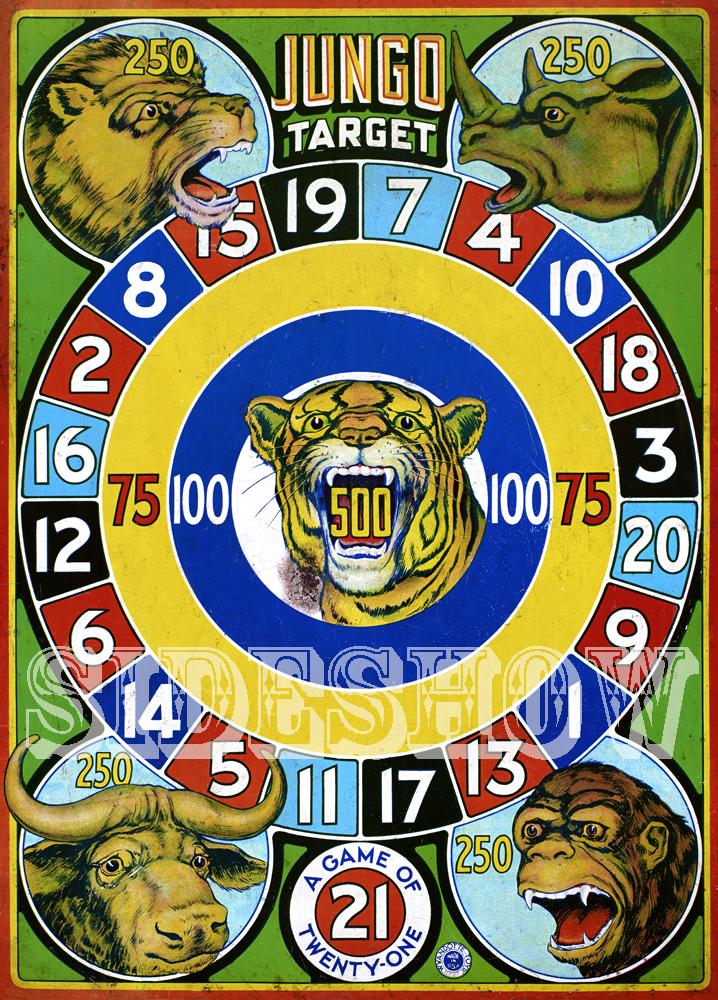 jungo target vintage dart board game