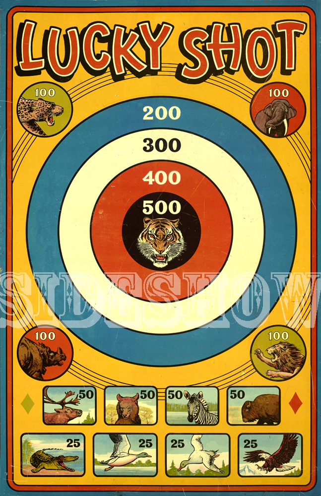 lucky shot vintage target dart board game graphic