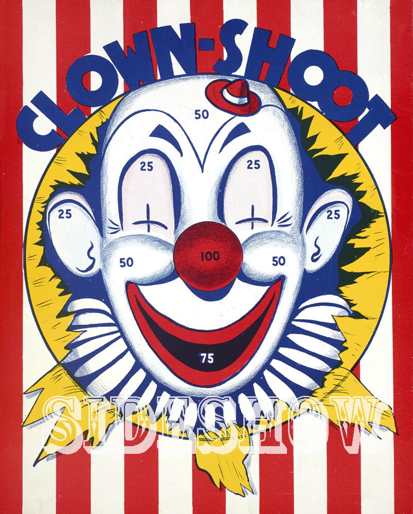 clown shoot vintage target dart board game