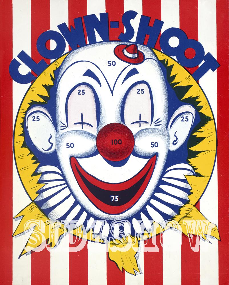 clown shoot vintage target dart board game