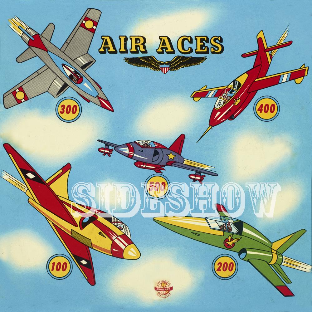 air aces vintage target dart board game