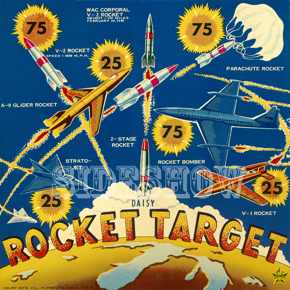 rocket target vintage game graphic