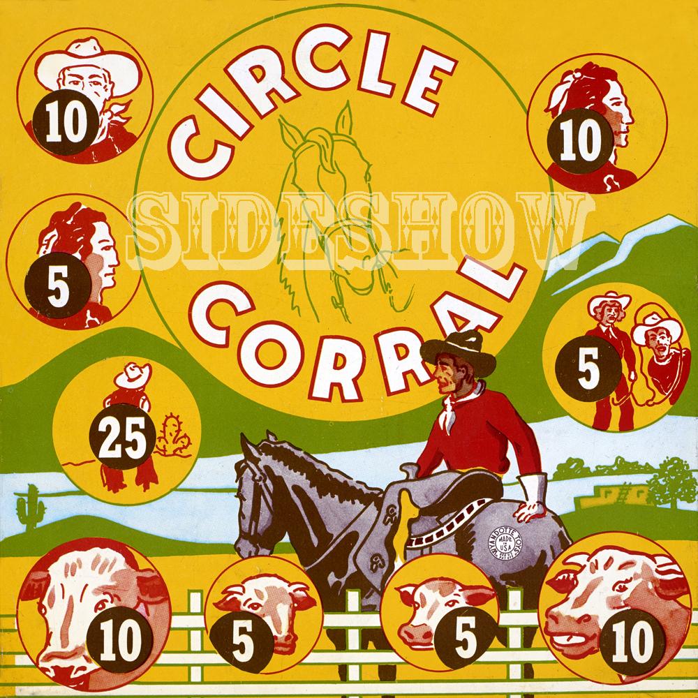 circle corral vintage target dart board game