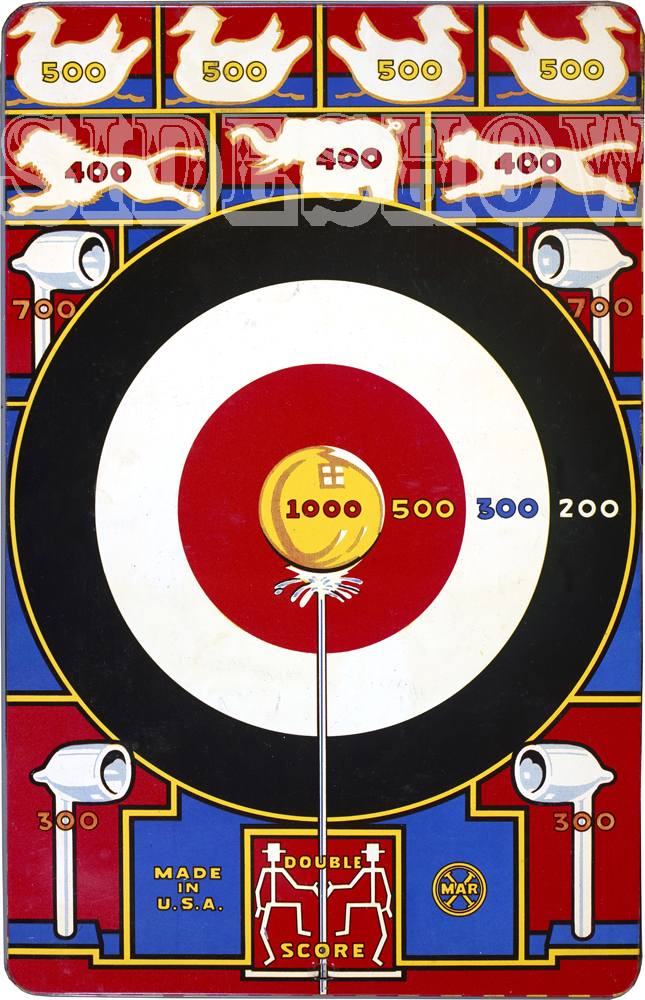 water shoot vintage target dart board game