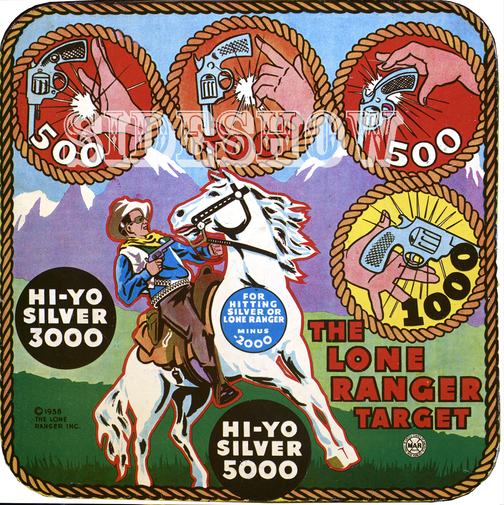 the lone ranger vintage target dart board game