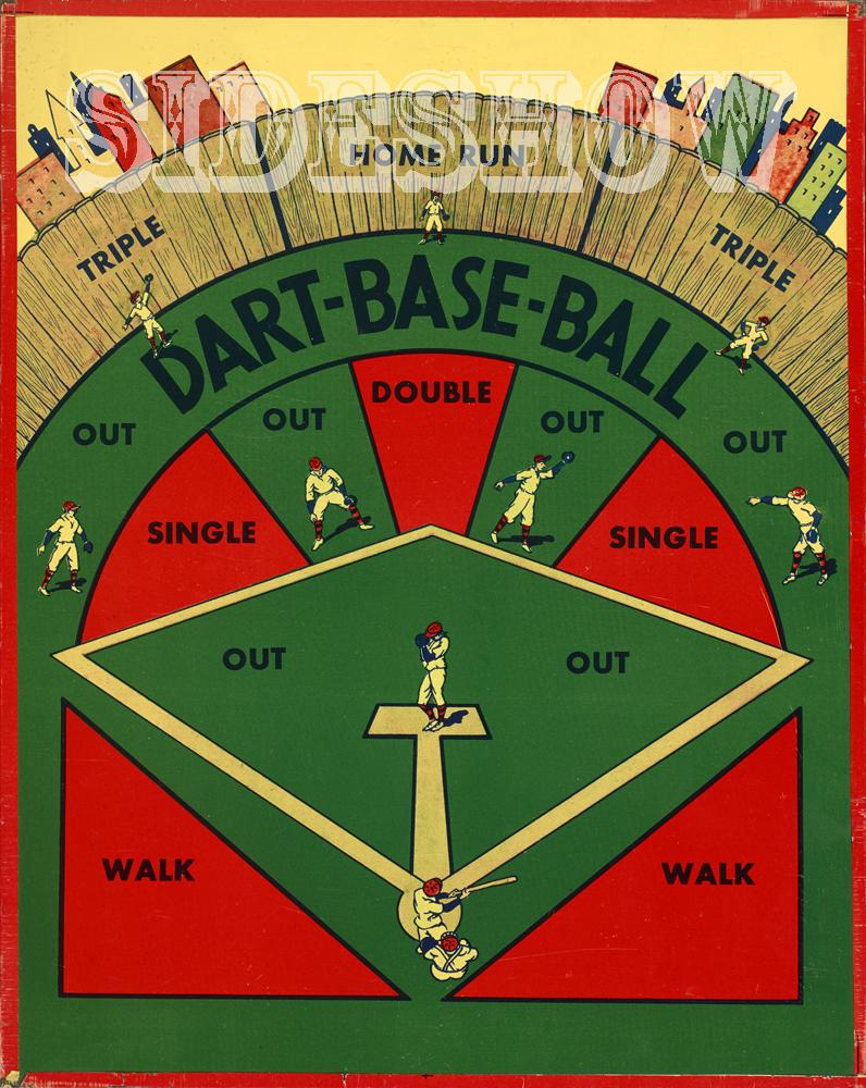 dart base ball baseball vintage target dart board game