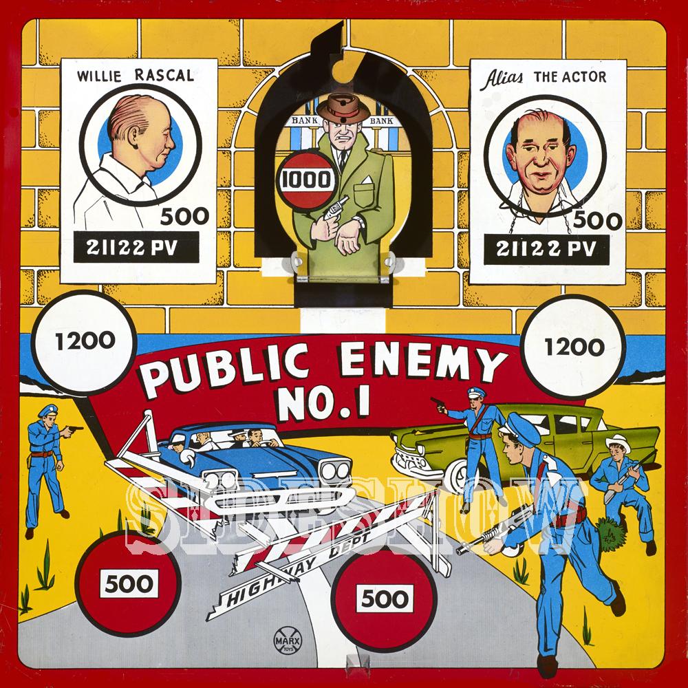 public enemy number one vintage target dart board game