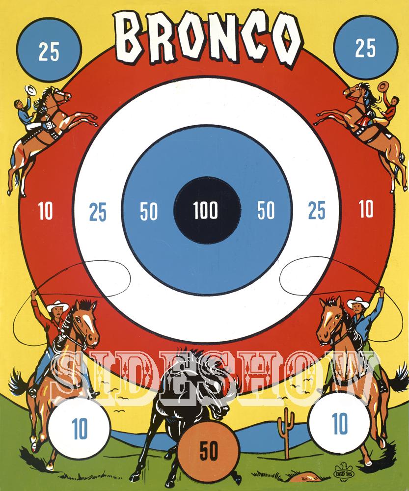 bronco vintage target dart board game